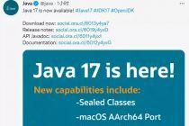 Java 17 正式发布,Java迈入新时代
