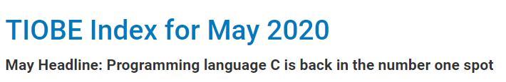 TIOBE 5 月榜单:时隔五年,C 语言重返第一  Clojure 第2张