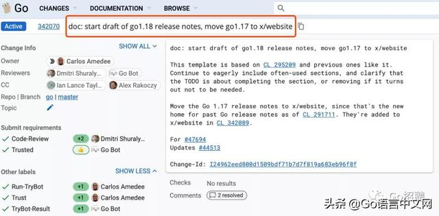 Go1.17 正式发布了,Go1.18 重新开放开发  Golang 第2张